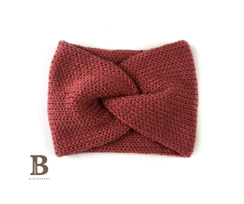 Child Twisted Ear Warmer - Rosewood
