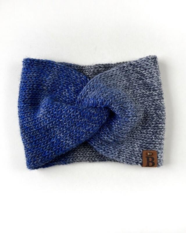 Adult Twisted Turban Ear Warmer - True Blue