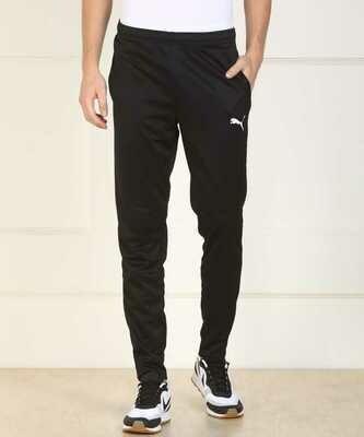 Puma Solid Mens Black Track Pants