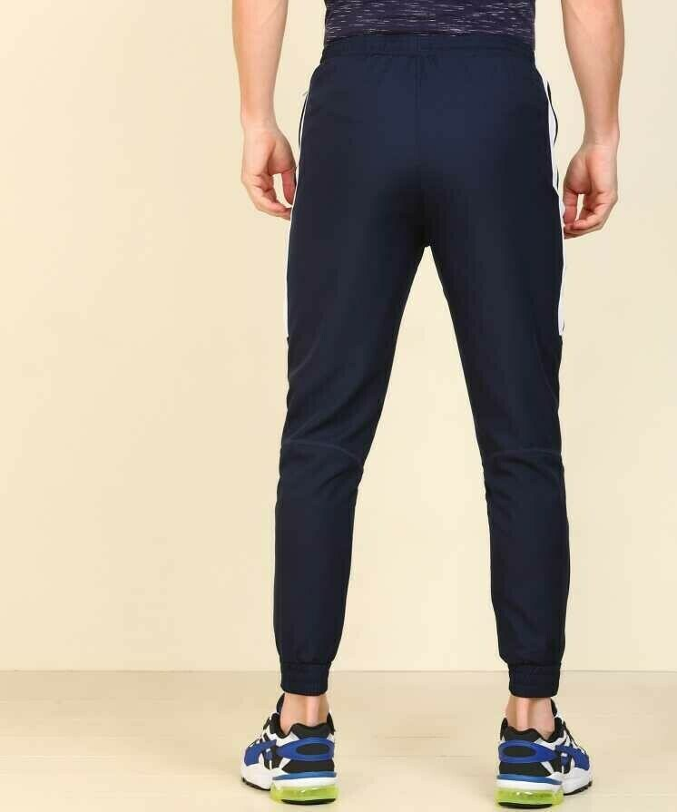 Nike Solid Men Blue stripped White Track Pants