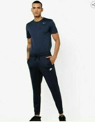 Nike Solid Men Blue Track Pants