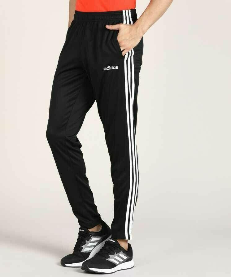 ADIDAS Solid & Casual Men Black Track Pants