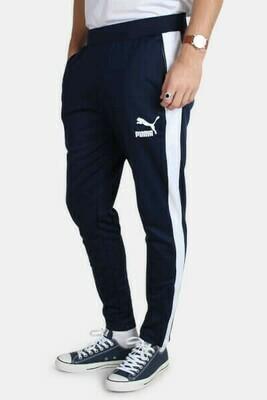 Puma Solid Men Dark Blue Track Pants