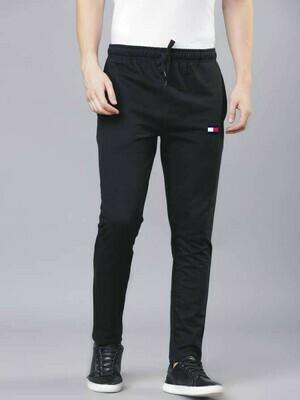 Tommy Hilfiger Solid Men Black Track Pants