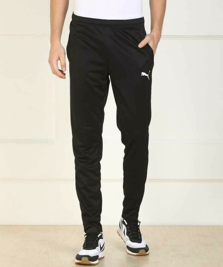 Puma Solid Men Black Track Pants