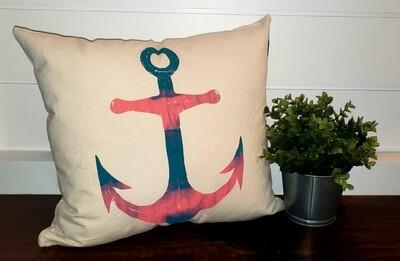 Anchor Tye-Dyed Pillow