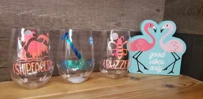 Summer Plastic Wine Glasses