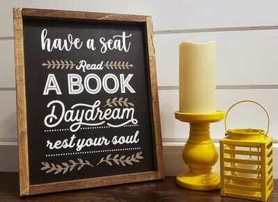 Read a book/Sit & Chat