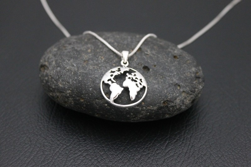 Map of World Necklace