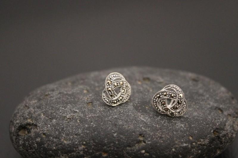 Marcasite Stud Earrings