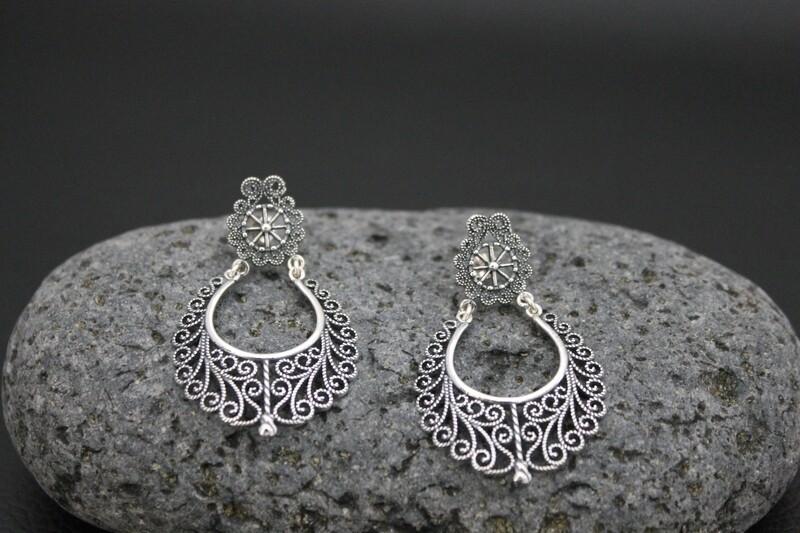 Oxidised Earrings