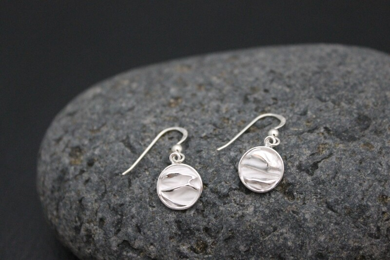 Drop Earrings with a Matte Finish