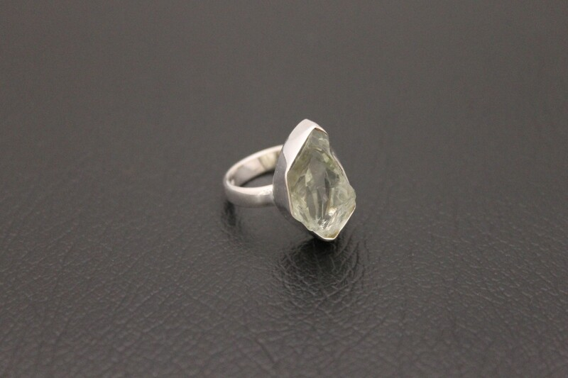 Ring - Green Amethyst Rough