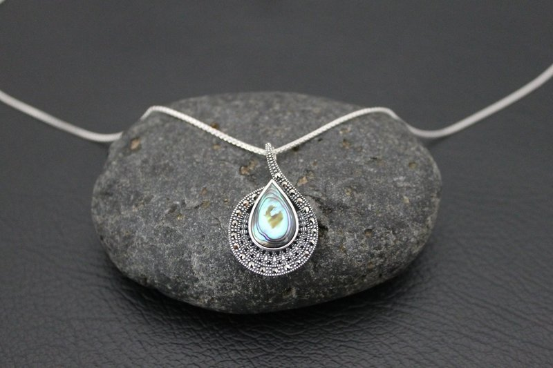 Necklace - Marcasite & Shell
