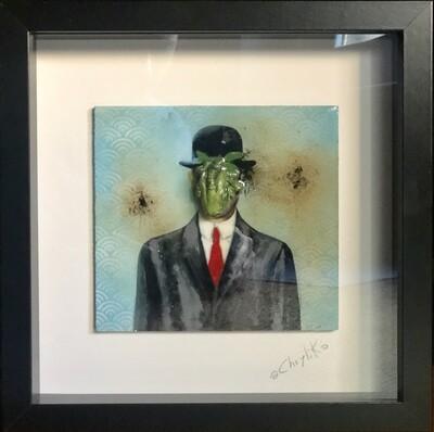Cecì n'est pas une pomme - R.Magritte tribute