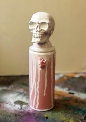 D3AD3D - white/pink (spraycan)