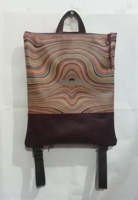 ZAINO-artigianale in pelle Urlo di Munch