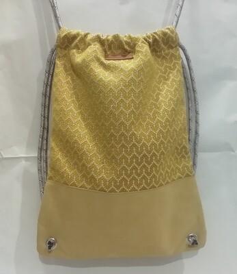 ZAINO-artigianale a sacchetto in tessuto