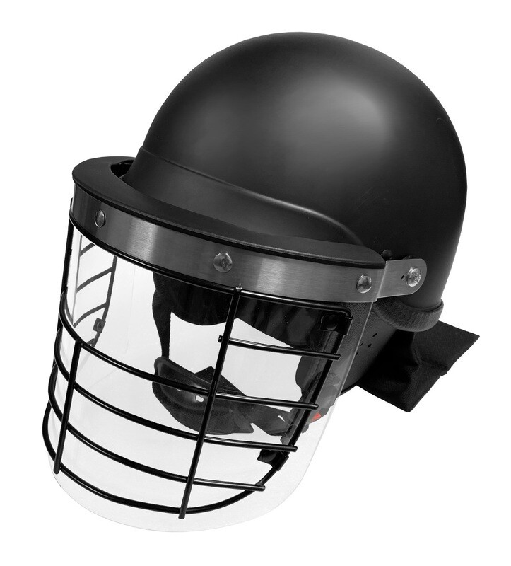 Riot Control Helmet w/ Steel Grid