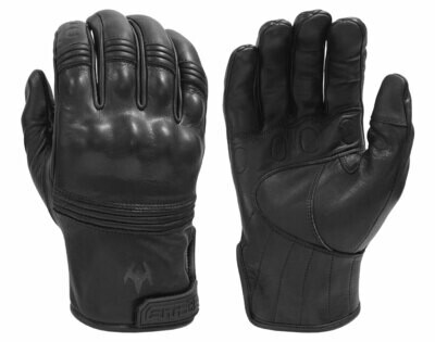 All-Leather Gloves with Knuckle Armor