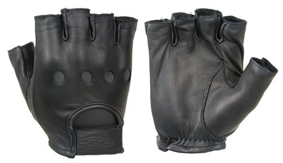 Premium Leather Driving Gloves (1/2 Finger)