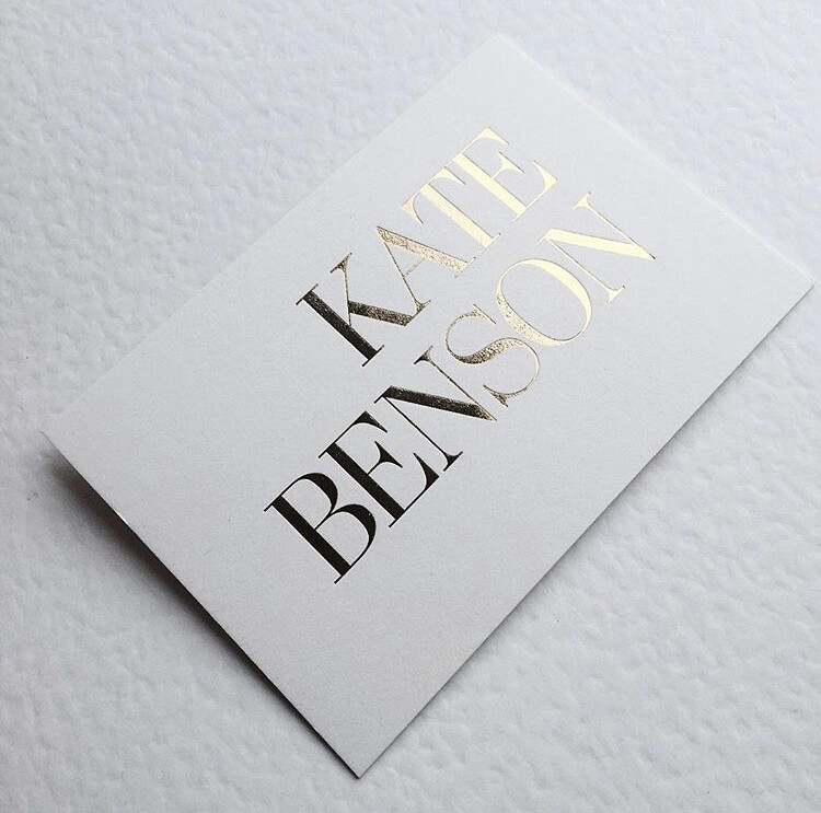 Hot foil stamping business cards