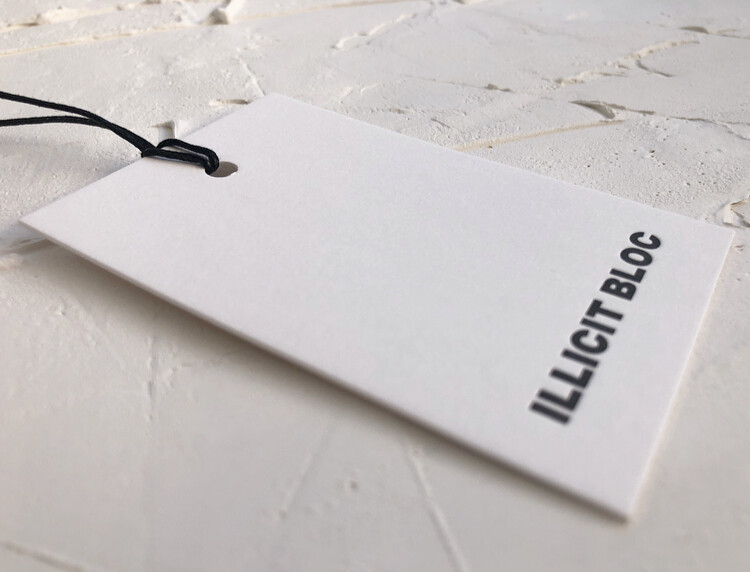 Luxury Letterpress Hang Tags