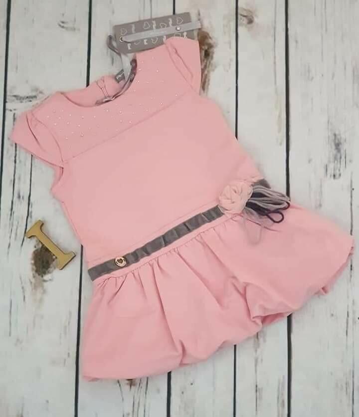 ARTIGLI abito bimba rosa a palloncino