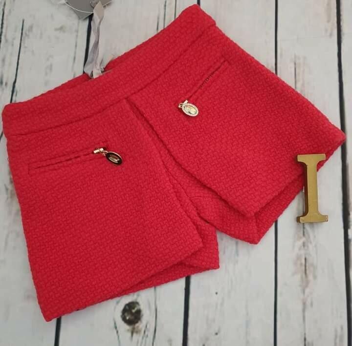 ARTIGLI pantaloncino rosso lana 12 mesi