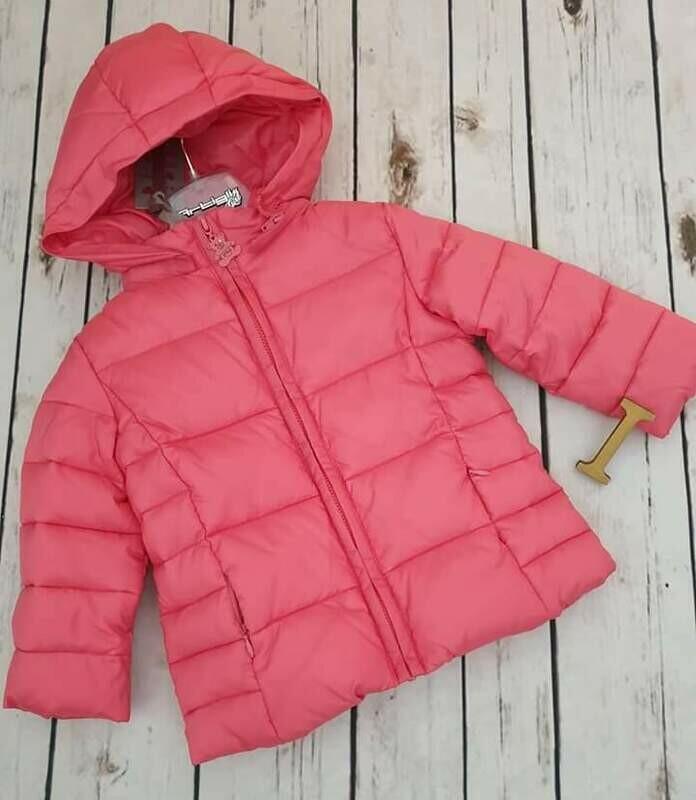 ARTIGLI Piumino bimba rosa rouches fiocco