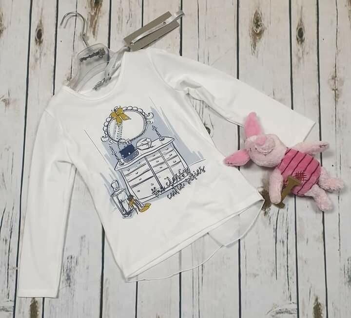 ARTIGLI maglietta stampa brillantini e voile 4 anni