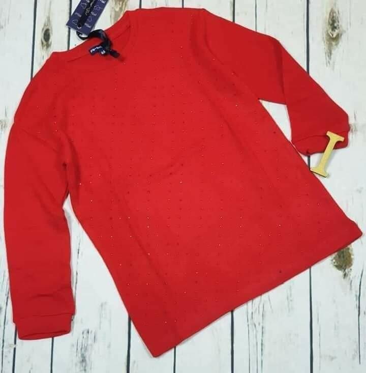 ARTIGLI maglioncino rosso bimba con brillantini 4 anni