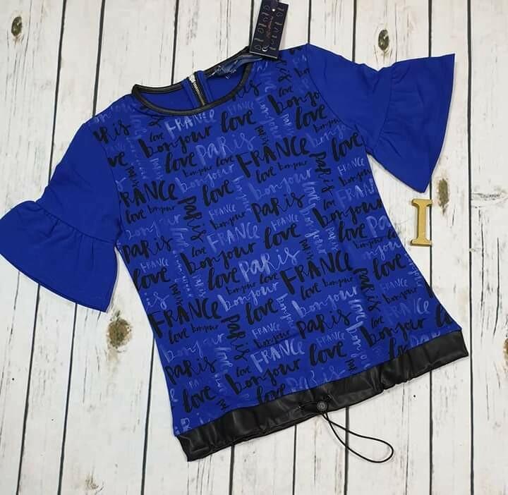 ARTIGLI  maglia maniche corte blu elettrico con stampa 12 anni