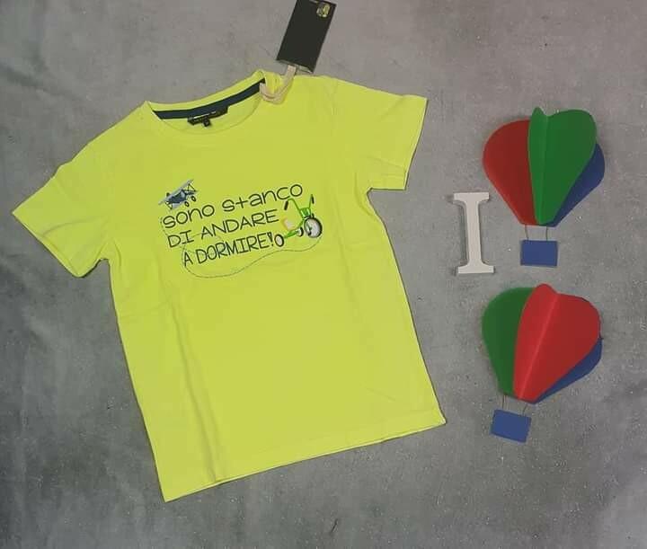 HEACH JUNIOR maglietta estiva bimbo verde fluo 2 anni