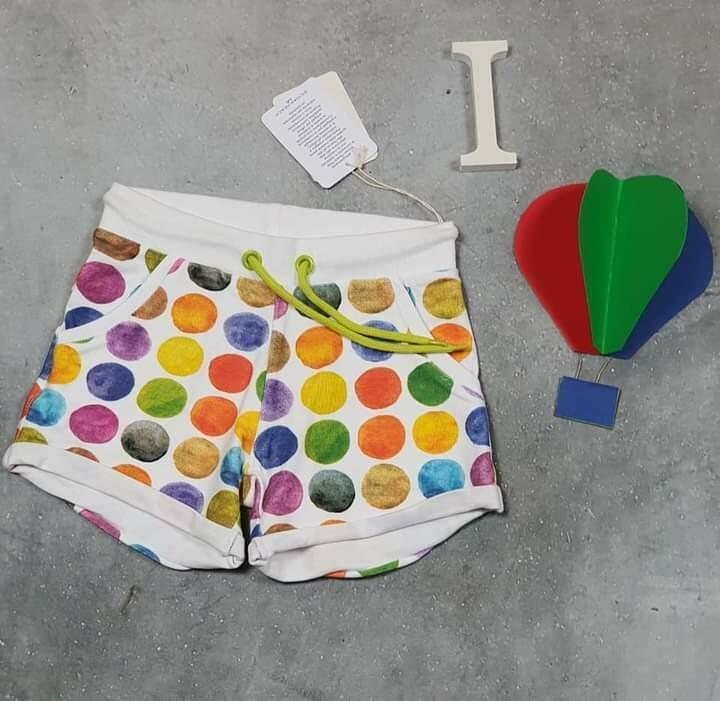 SILVIAN HEACH pantaloncino bimba estivo pois colorati 3 anni