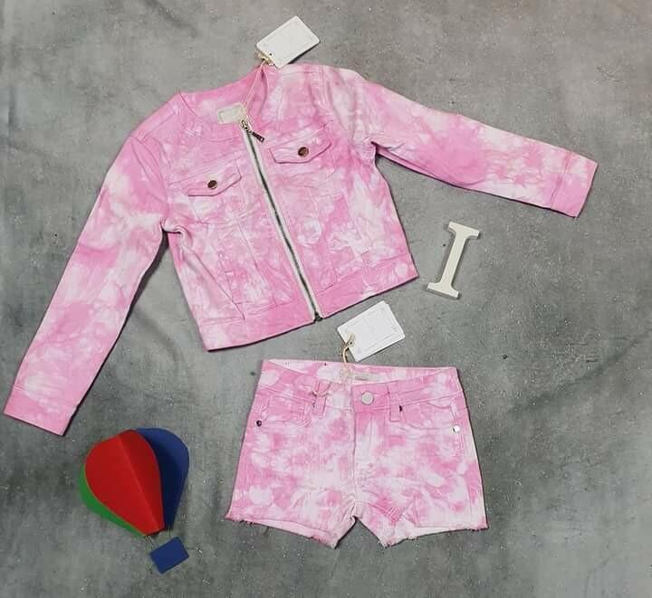 SILVIAN HEACH completo bimba primaverile jeans rosa