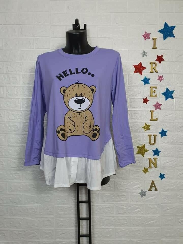 Maglietta donna primaverile orso