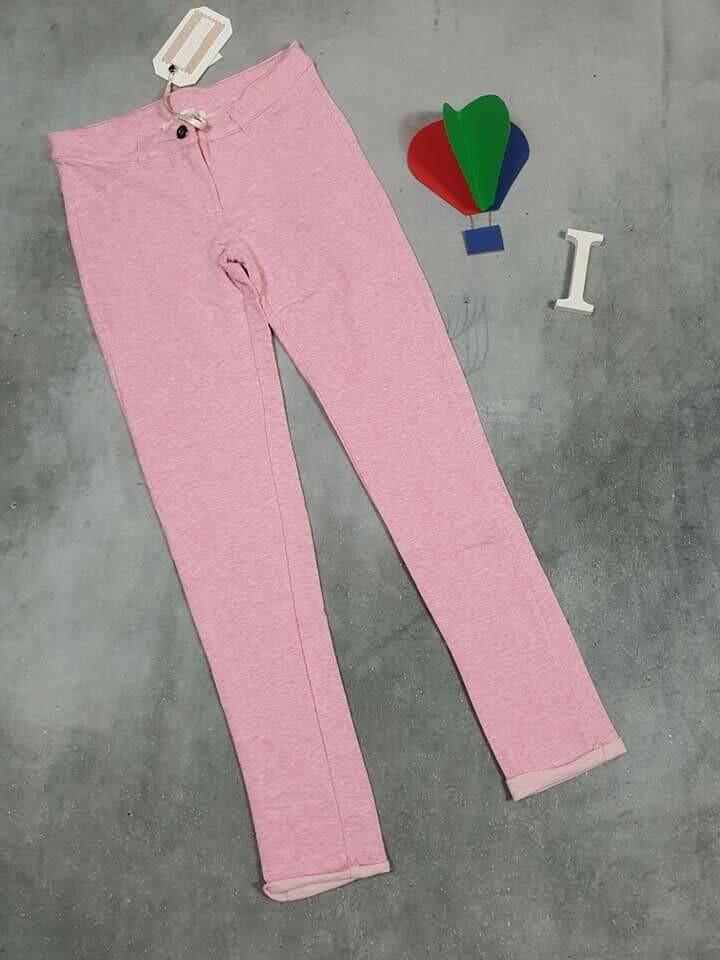 SILVIAN HEACH pantaloni ragazza primaverili in cotone rosa