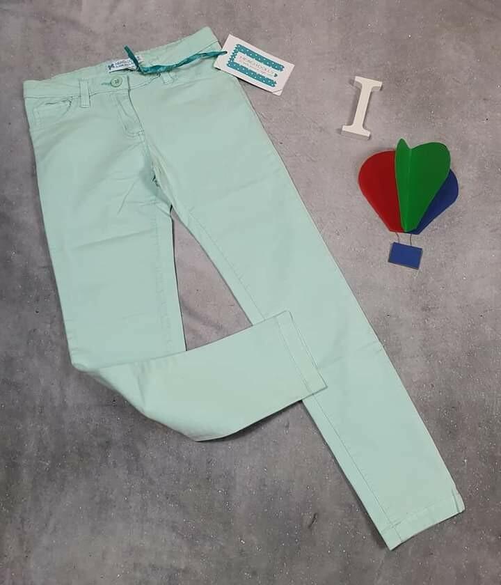 SILVIAN HEACH pantaloni ragazza primaverili verde acqua