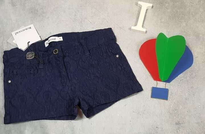 RUBACUORI pantaloncino pizzo blu