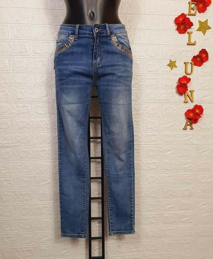 Jeans donna pailettes