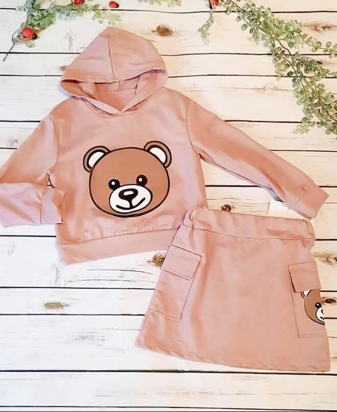 Completo ragazza primaverile orsetto