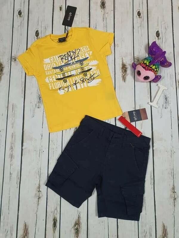 Completo bimbo estivo surf giallo