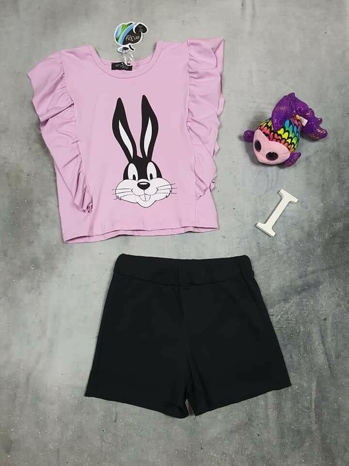 Completo ragazza rosa con coniglio