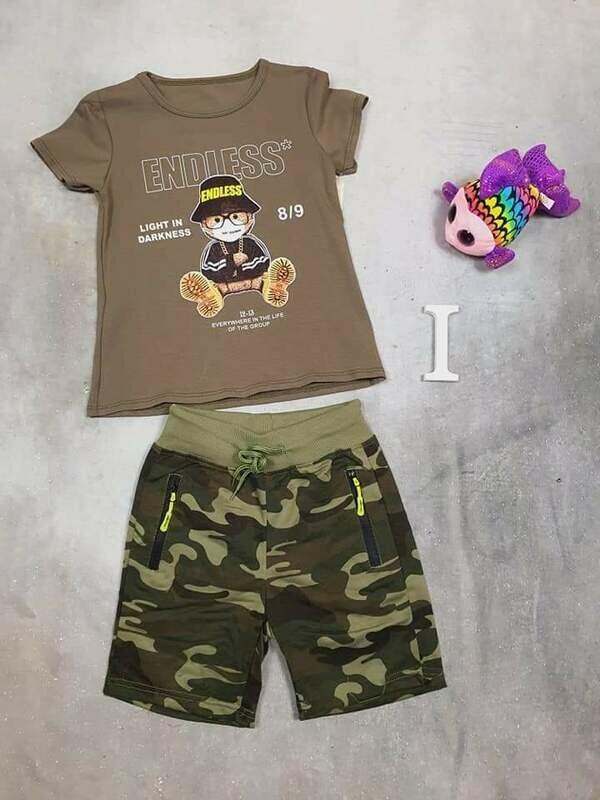 Completo bimbo estivo orso militare