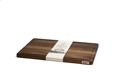 Tagliere con raccoglisugo in legno di noce 50 cm
