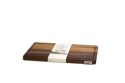 Tagliere con raccoglisugo in legno di noce 40 cm