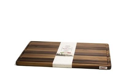 Tagliere con raccoglisugo in legno di noce 45 cm