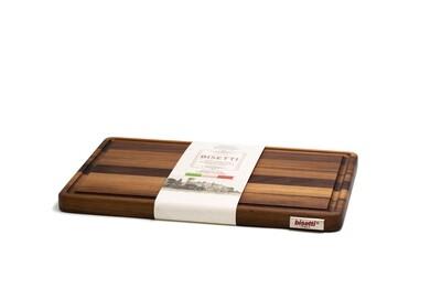 Tagliere con raccoglisugo in legno di noce 35 cm