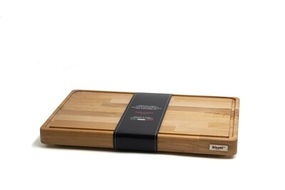 Tagliere con raccoglisugo e piedini in legno di faggio 45 cm